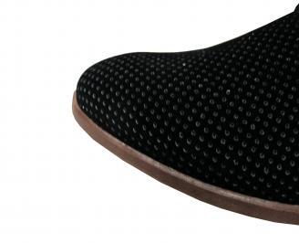 Мъжки спортно елегантни обувки  набук черни BSLQ-21721