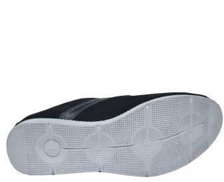 Мъжки спортно елегантни обувки набук тъмно сини HOLQ-21852