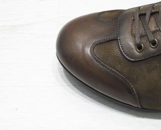 Мъжки спортно елегантни обувки естествена кожа кафяви XBZW-23069