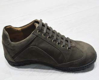 Мъжки спортно елегантни обувки естествена кожа кафяви FQHT-23483
