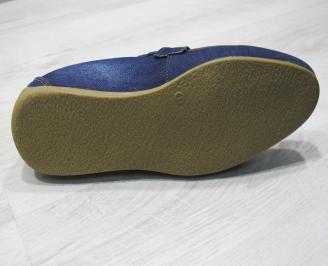 Мъжки спортно елегантни обувки текстил  сини PHCC-24078