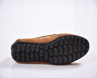 Мъжки спортно елегантни обувки велур бежови INFY-24079
