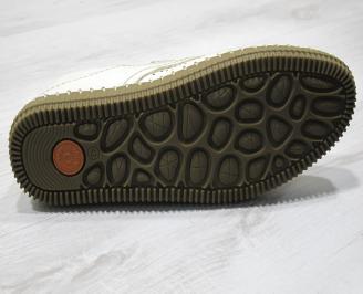 Мъжки спортно елегантни  обувки естествена кожа бежови EFFW-24310