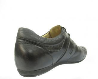 Мъжки спортно елегантни обувки естествена кожа MNJR-11449