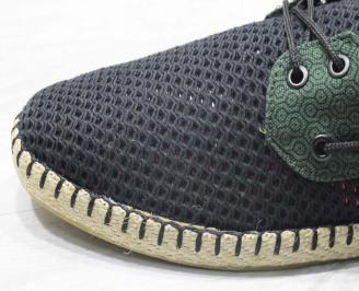 Мъжки спортно елегантни  обувки текстил зелени FJEI-24503