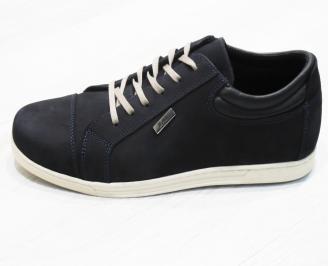 Мъжки спортно елегантни  обувки естествен набук сини XLBP-25256
