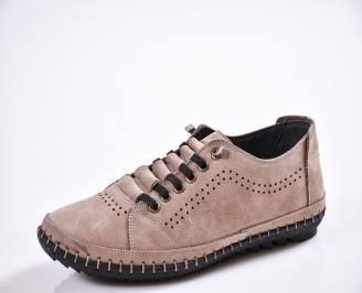 Мъжки спортно елегантни  обувки естествена кожа бежови AVPN-27041