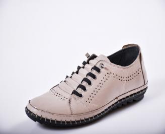 Мъжки спортно елегантни  обувки естествена кожа бежови OIQC-27266