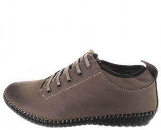 Мъжки спортно елегантни обувки естествен набук кафяви GPFR-19881