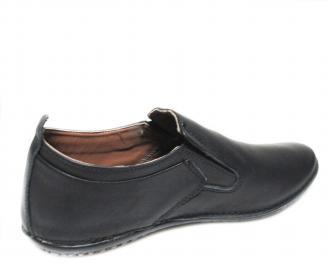Мъжки спортно елегантни обувки естествена кожа черни REDV-19887