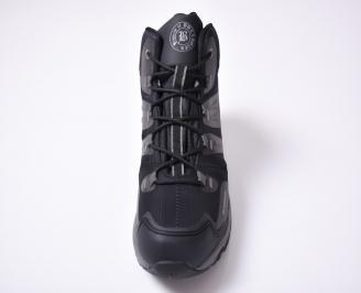 Мъжки зимни боти  черни DZNT-1012694