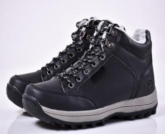 Мъжки зимни боти черни UMKX-1014554