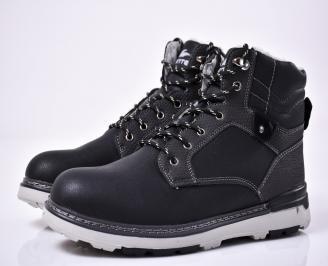 Мъжки зимни боти черни EAKW-1014555