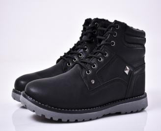 Мъжки зимни боти черни LCNK-1014556
