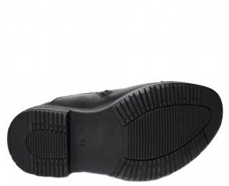 Мъжки зимни боти естествена кожа черни VDTK-22693
