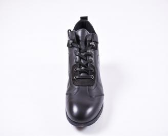 Мъжки зимни боти от естествена кожа черни HIYX-1010774