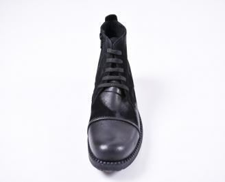 Мъжки зимни боти от естествена кожа черни URCQ-1010786