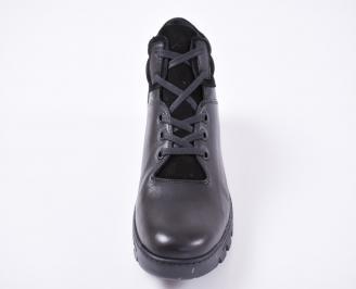 Мъжки зимни боти от естествена кожа черни VNUI-1010966