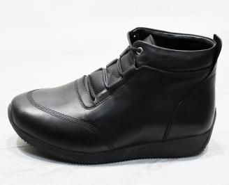Мъжки зимни боти от естествена кожа черни QYQW-25650