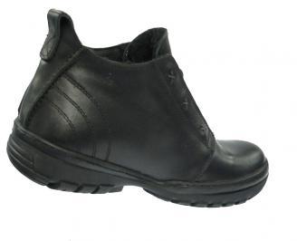 Мъжки зимни боти от естествена кожа черни QWWK-10355