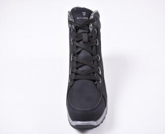 Мъжки зимни боти от набук черни OKVJ-1010830