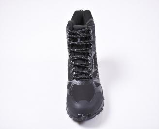 Мъжки зимни боти от набук черни TSGA-1010838