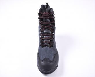 Мъжки зимни боти от набук черни DZXM-1010990