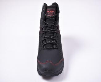 Мъжки зимни боти от водонепромокаем текстил черни KKRX-1013223