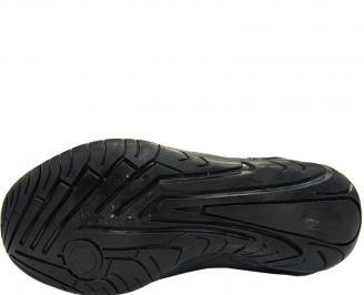 Обувки от естествена кожа черни HZOH-10003