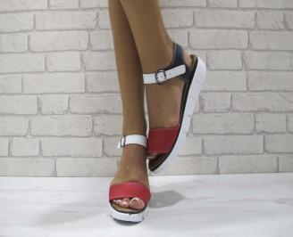 Равни дамски сандали естествена кожа томи OTTP-24203