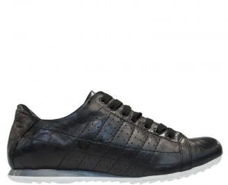 Спортни мъжки обувки естествена кожа черни BXEJ-10111