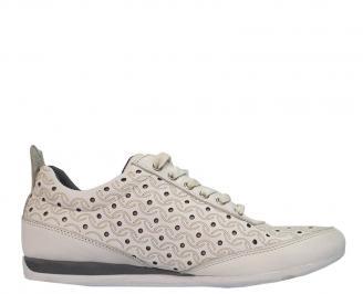 Спортни мъжки обувки от естествена кожа спортни бели BYVQ-10066