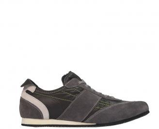 Спортни мъжки обувки от естествена кожа черни UQGT-10070