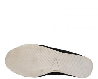 Спортни мъжки обувки от естествена кожа черни LIJV-10086