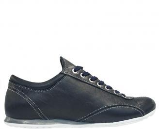 Спортни мъжки обувки от естествена кожа сини OADP-10099