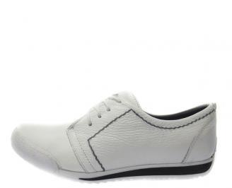 Спортни обувки мъжки естествена кожа бели LEND-11185