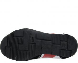 Спортни обувки от естествена кожа бели HREV-10037