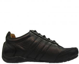 Спортни  обувки от естествена кожа черни FMBG-10004