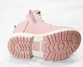 Юношески  боти Bulldozer  еко кожа розови QEHS-25153