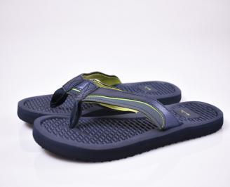 Юношески джапанки еко кожа  сини NDES-1012503