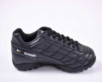 Юношески футболни  обувки Bulldozer еко кожа черни UZNM-23197