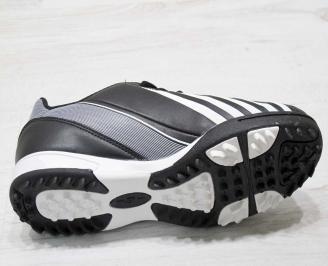 Юношески футболни обувки Bulldozer еко кожа черни ZQXR-23209