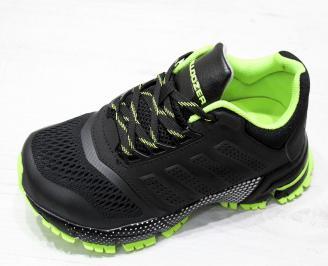 Юношески  маратонки BULLDOZER еко кожа/текстил черни TGXT-23183