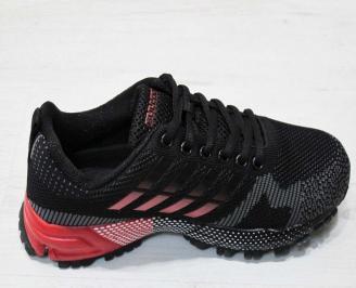 Юношески  маратонки BULLDOZER текстил черни QHEN-23202
