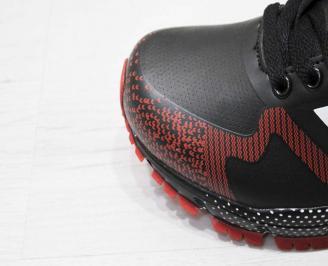 Юношески  маратонки BULLDOZER  еко кожа черно/червено VJFW-23210