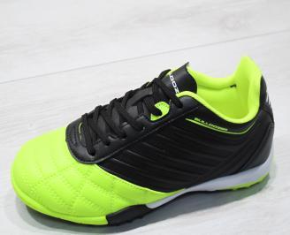 Юношески маратонки Bulldozer еко кожа зелено/черно NOHT-23755