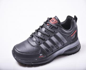 Юношески  маратонки   еко кожа  черни UHXY-1010165