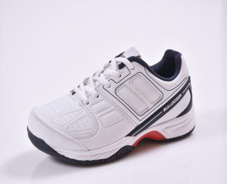 Юношески  маратонки еко кожа бели QXOW-26833
