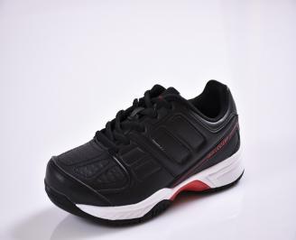 Юношески  маратонки   еко кожа  черни NQBL-26838