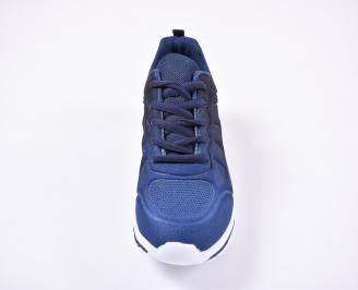 Юношески  маратонки   текстил сини IPTF-1011139
